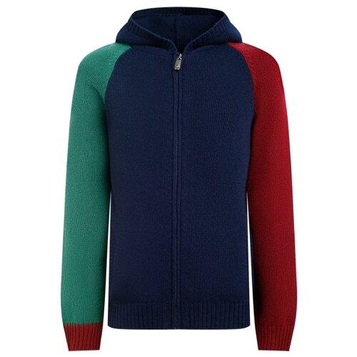 Купить Кардиган Il Gufo размер 140, синий, Свитеры и кардиганы