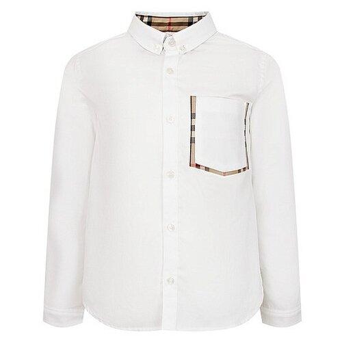 Рубашка Burberry размер 140, белый burberry burberry помада burberry kisses 77 blush