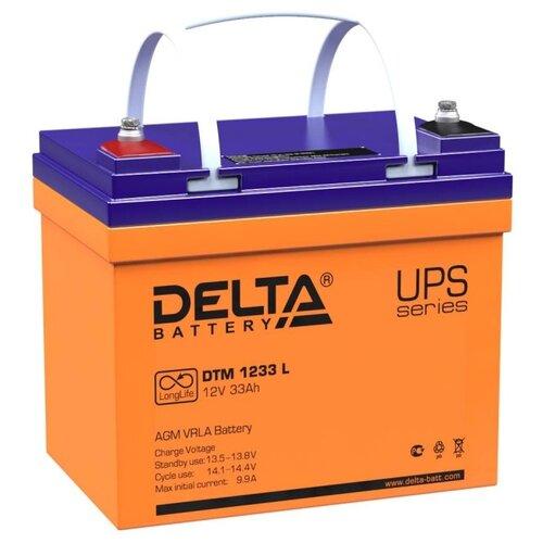 Аккумуляторная батарея DELTA Battery DTM 1233 L 33 А·ч аккумуляторная батарея delta battery dtm 1275 l 75 а·ч