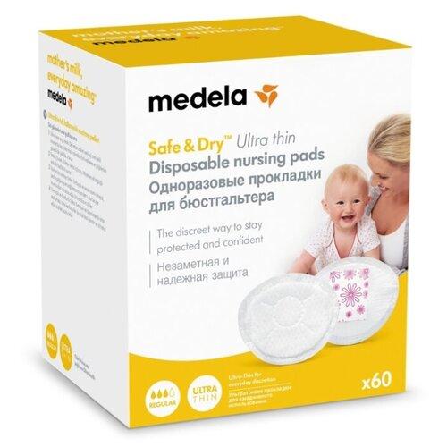 Купить Medela Одноразовые прокладки для бюстгальтера ультратонкие Safe & Dry Ultra thin 60 шт., Прокладки для груди