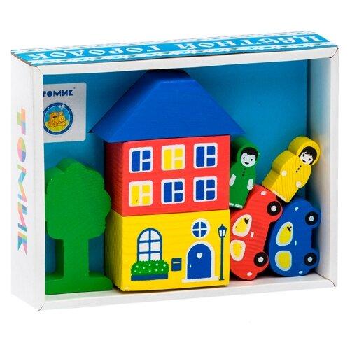 Кубики Томик Цветной городок голубой 8688-3 томик конструктор веселый городок 56 деталей томик