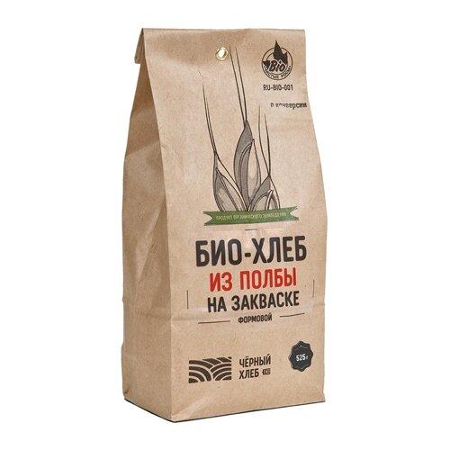 Чёрный хлеб Смесь для выпечки Био-хлеб из полбы формовой на закваске, 0.525 кг смесь для выпечки ruggeri хлеб