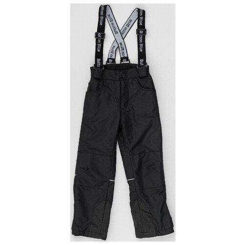 Купить Брюки Button Blue 220BBGA6401 размер 122, черный, Полукомбинезоны и брюки