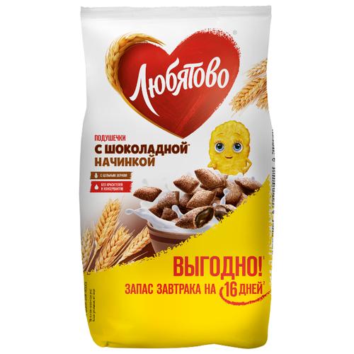 Готовый завтрак Любятово Подушечки шоколадные, пакет, 500 г фото