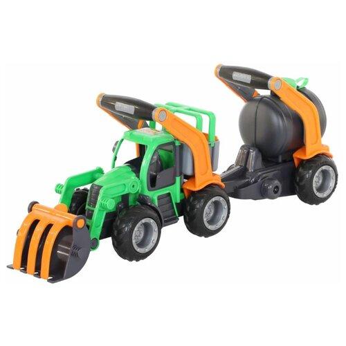 Трактор Wader ГрипТрак с цистерной (37404) 54.7 см мусоровоз wader гриптрак 37459 28 5 см
