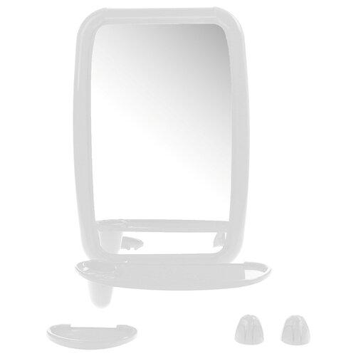 Зеркало BEROSSI Optima 34.6х51.5 см снежно-белый в раме