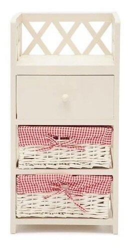 Купить Тумба прикроватная Secret de Maison Cage 3, ШхГхВ: 34х30х69 см, цвет: слоновая кость по низкой цене с доставкой из Яндекс.Маркета