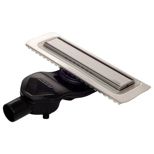 Желоб водосток BERGES В1 Keramik 300, матовый хром, боковой выпуск S-сифон D50 H60