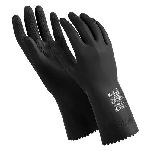 Перчатки Manipula Specialist КЩС-2 (размер 7-7.5) 1 пара черный
