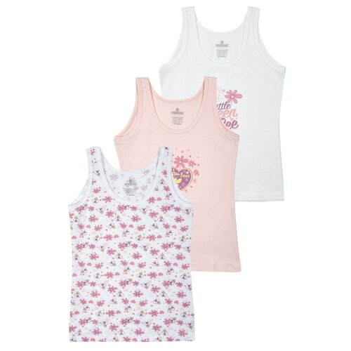 Купить Майка BAYKAR 3 шт., размер 158/164, белый/молочный/розовый, Белье и купальники