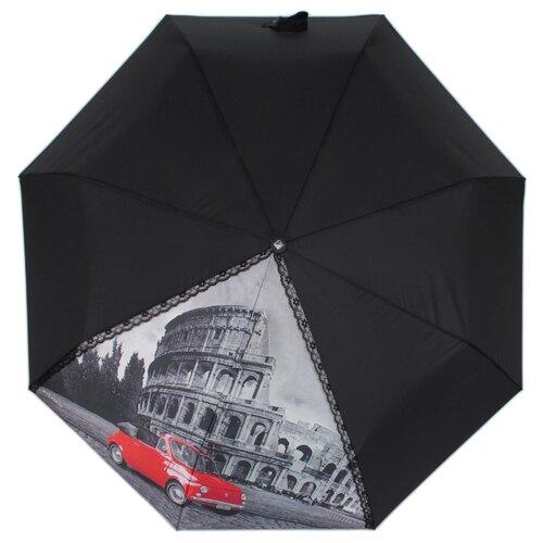 Зонт автомат FLIORAJ 20102 FJ черный рюкзак женский flioraj цвет черный 00058058