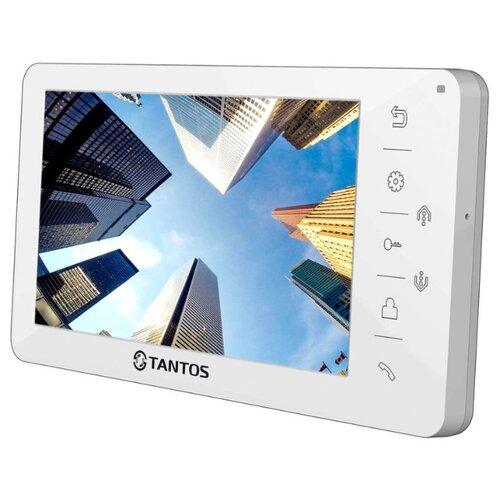 Домофон (переговорное устройство) TANTOS Amelie White белый (дверная станция) видеодомофон tantos loki