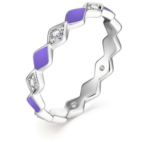 АЛЬКОР Кольцо с 7 фианитами из серебра 01-1306-ЭМ69-00, размер 17.5 алькор кольцо с 14 фианитами из серебра 01 1305 эм69 00 размер 18