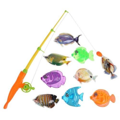 Рыбалка Играем вместе Три кота 1508V035-R оранжевый/желтый игрушки для ванны играем вместе игра рыбалка три кота k095 h19006 r