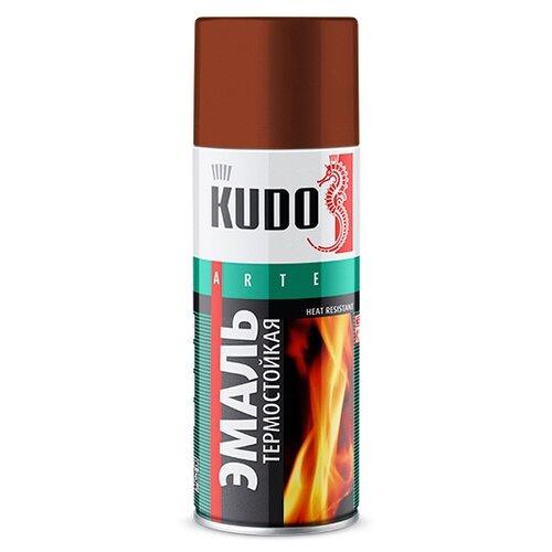 Фото - Эмаль KUDO термостойкая красно-коричневый 520 мл эмаль kudo термостойкая