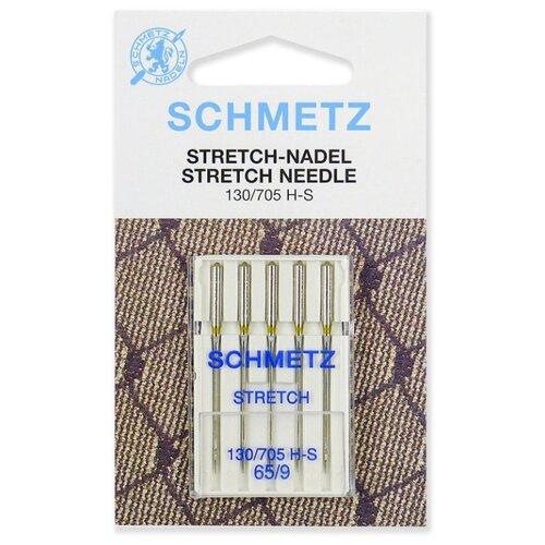 Игла/иглы Schmetz Stretch 130/705 H-S 65/9 серебристый