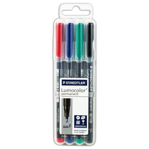 Купить Staedtler Набор перманентных маркеров Lumicolor, 4шт (318 WP4), Маркеры