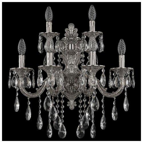 Настенный светильник Bohemia Ivele Crystal 7101B16/4+2/210 B Ni, 240 Вт светильник bohemia ivele crystal 7710 22 1 ni e27 40 вт