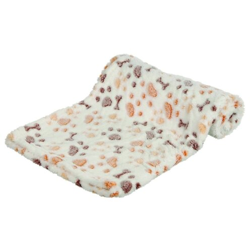 Подстилка-плед для собак TRIXIE Lingo Blanket 100х75 см белый/бежевый