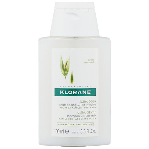 Klorane шампунь Ultra-Gentle, Protecting with Oat Milk 100 мл детский шампунь klorane