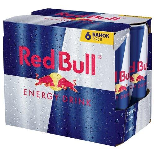 Энергетический напиток Red Bull, 0.25 л, 6 шт.