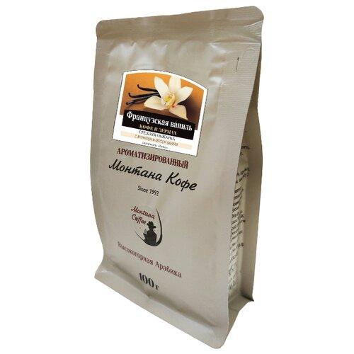 цена на Кофе в зернах Монтана Французская ваниль, ароматизированный, арабика, 100 г