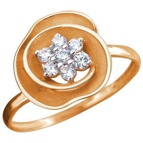 Эстет Кольцо с 7 фианитами из красного золота 01К1112465Р, размер 17 ЭСТЕТ
