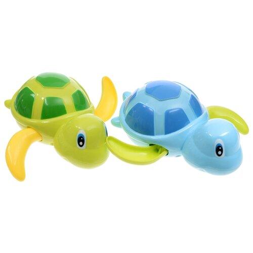Купить Набор для ванной Happy Baby Swimming Turtles (331843) голубой/зеленый, Игрушки для ванной