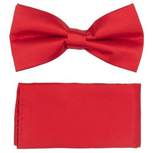 Комплект из 2 предметов OTOKODESIGN галстук-бабочка и платок 537/560 красный