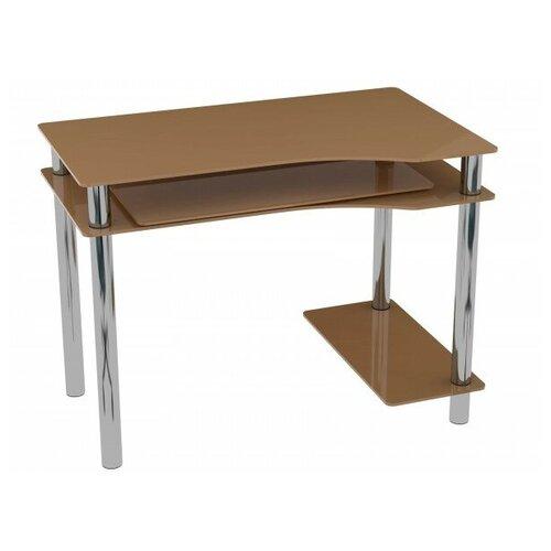 Компьютерный стол Акма Noir-01, 100х60 см, цвет: бежевый подставка для телевизора акма v3 600 10viz
