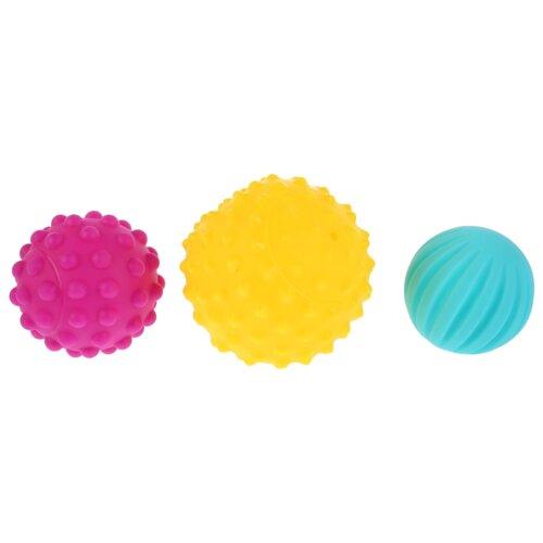 Купить Набор для ванной Играем вместе Массажные мячики (LX18BL-3) желтый/фиолетовый/голубой, Игрушки для ванной