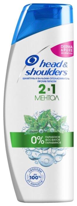 Купить Head & Shoulders шампунь и бальзам-ополаскиватель против перхоти 2в1 Ментол 400 мл по низкой цене с доставкой из Яндекс.Маркета