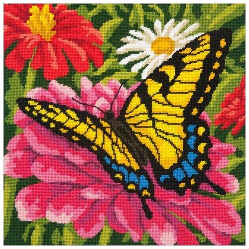 Купить Dimensions Набор для вышивания Бабочка на цветке 35, 5 x 35, 5 см (71-20087), Наборы для вышивания