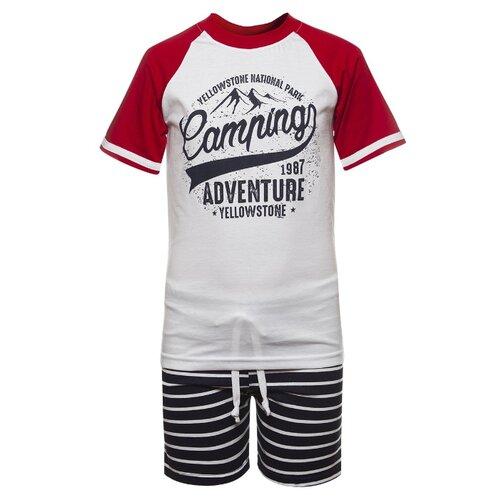 Купить Комплект одежды M&D размер 122, красный, Комплекты и форма