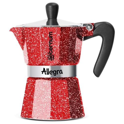 Фото - Гейзерная кофеварка Bialetti Aeternum Allegra (3 порции), рубиновый гейзерная кофеварка bialetti aeternum divina 4 порции металлик