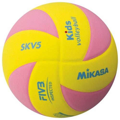 Волейбольный мяч Mikasa SKV5 розово-желтый