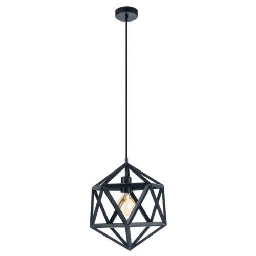 Светильник Eglo Embleton 49762, E27, 60 Вт, кол-во ламп: 1 шт., цвет арматуры: черный светильник eglo obregon 95384 e27 60 вт