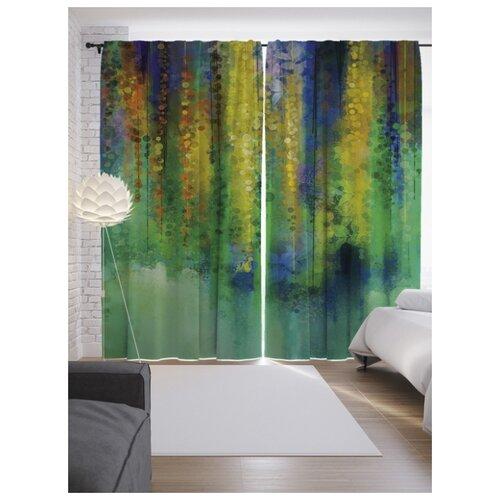 Портьеры JoyArty Красочная стена на ленте 265 см (p-13890)