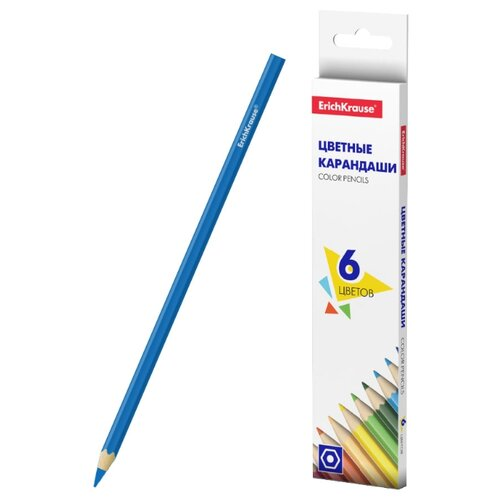 ErichKrause Цветные карандаши Basic 6 цветов (50528) недорого
