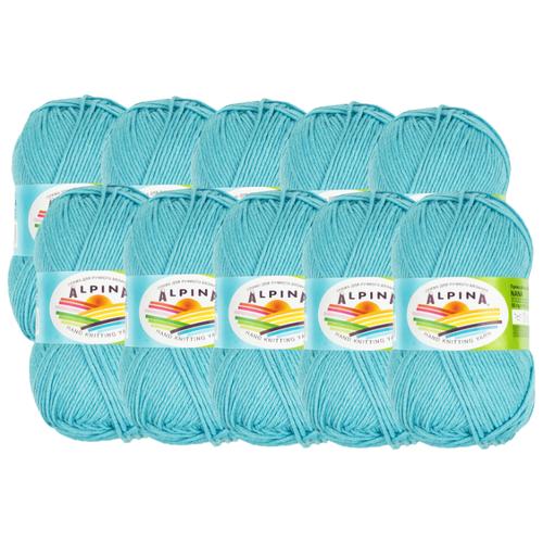 цена на Пряжа Alpina Nana, 70 % хлопок, 30 % полиамид, 50 г, 105 м, 10 шт., 15 яр.голубой
