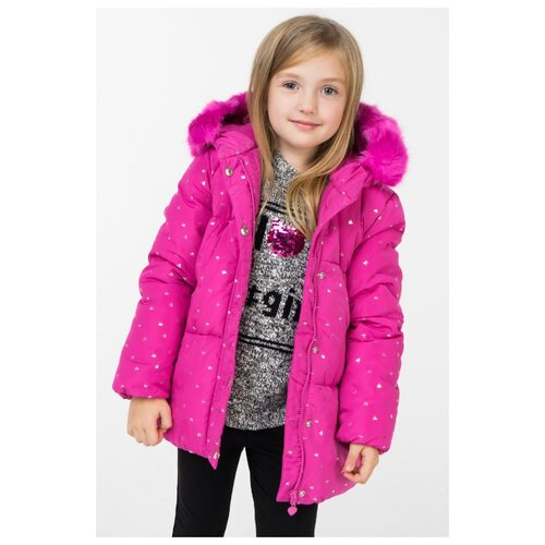 Куртка INCITY размер 104, розовый лонгслив incity размер 104 розовый