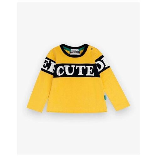 Купить Лонгслив Gulliver Baby, размер 86, желтый, Футболки и рубашки