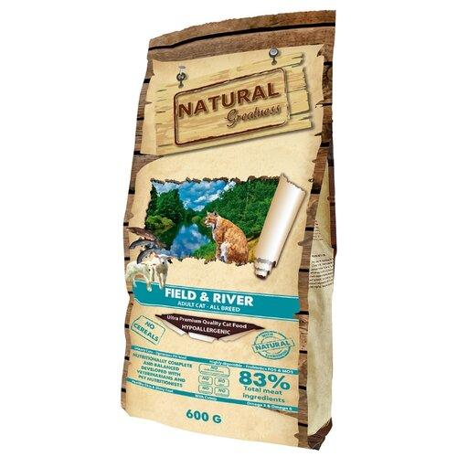 Корм для кошек NATURAL Greatness Field&River беззерновой 600 г greatness