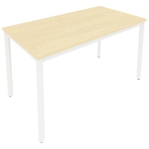 Письменный стол Рива Slim С.СП, ШхГ: 138х72 см, цвет: металл белый/клён