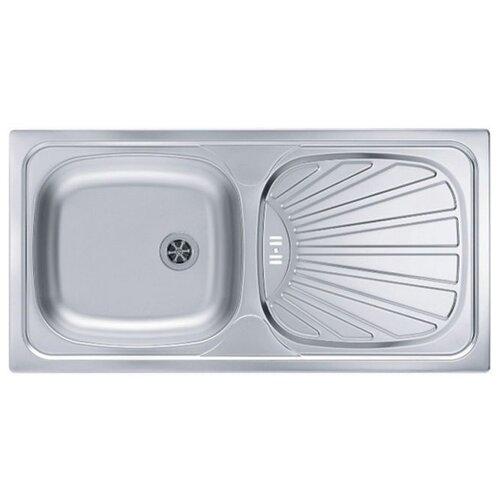 Врезная кухонная мойка 86 см ALVEUS Basic 80 нержавеющая сталь/leinen кухонная мойка alveus basic 130 1008825 нержавеющая сталь