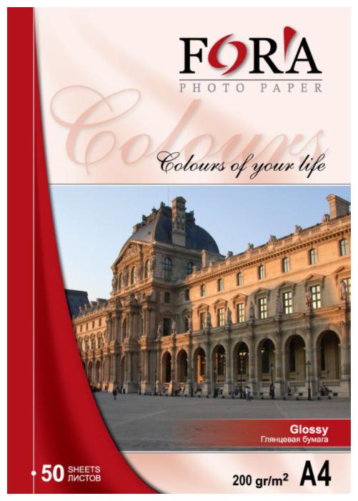 Купить Фотобумага FORA глянцевая 200 гр А4 50 листов по низкой цене с доставкой из Яндекс.Маркета