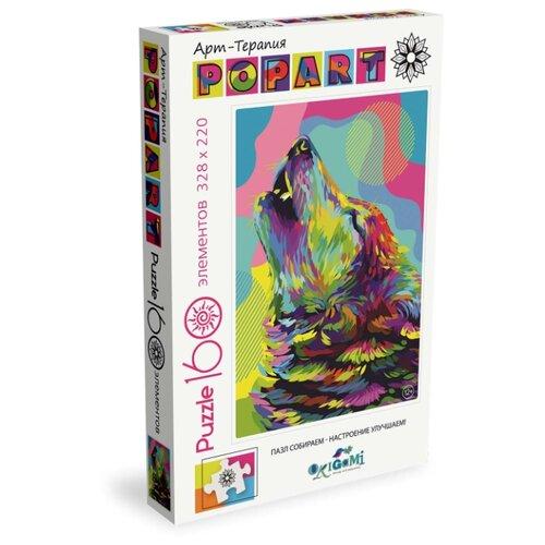 Купить Пазл Origami Арт-терапия Поп-арт Волк (05558), 160 дет., Пазлы