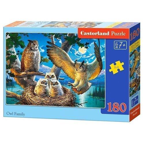 Пазл Castorland Owl Family (B-018437), 180 дет. пазл castorland к старту готов b 018406 180 дет