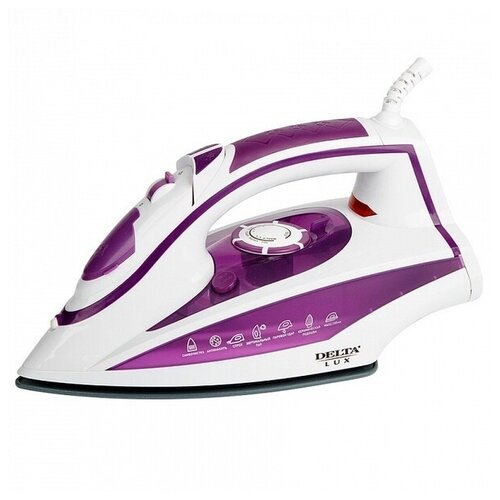 Утюг DELTA LUX DL-352 фиолетовый/белый фен delta lux dl 0940 черный фиолетовый