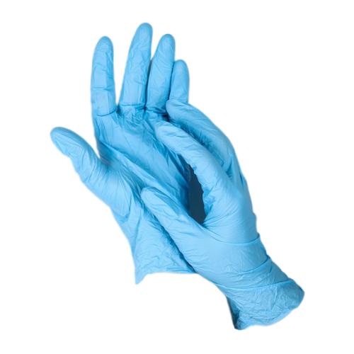 Перчатки Доляна нитриловые, 5 пар, размер M, цвет голубой